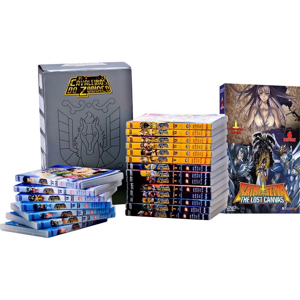 Kit DVD - Coleção Saga Clássica Completa - Santuário, Asgard e Poseidon + Cavaleiros do Zodíaco: Saint Seiya (27 Discos) - Americanas.com