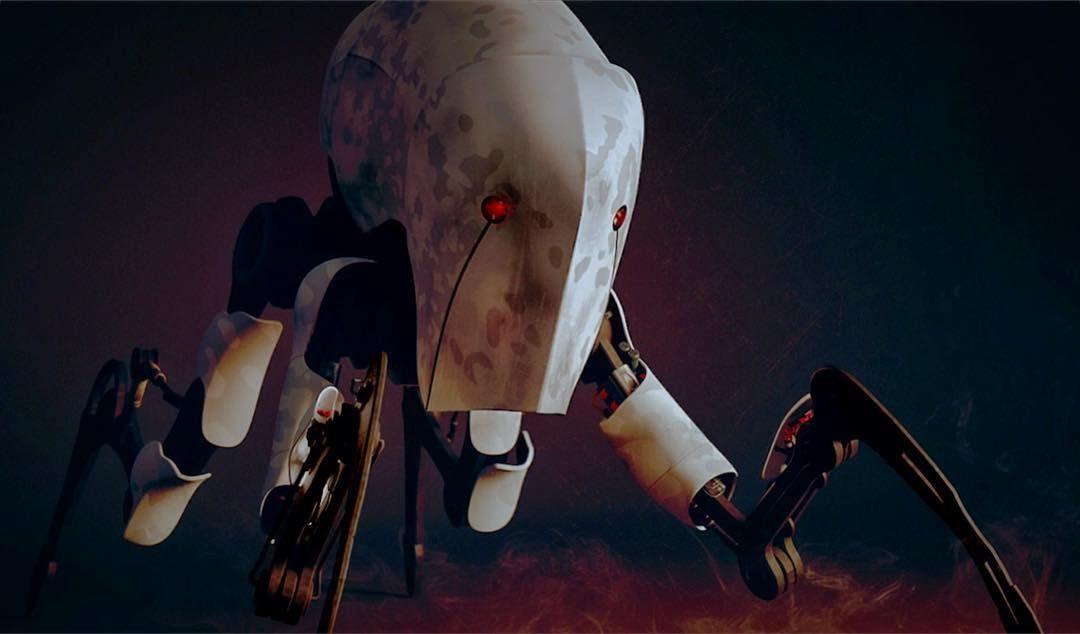 From W.I.P to R.I.P  Perdi meu primeiro trabalho de rigging em uma formatação do PC... Rest in peace my big fella http://ift.tt/1Zu4WdT : #rigging#robot#c4d#maxon#maxonc4d#maxoncinema4d#animation#animação#robo#advancedrender#physicalrender#render#rendering#expresso#rip#visualeffects#cgi#3d#modeling#cinema#cinema4d by lucas_kelsch