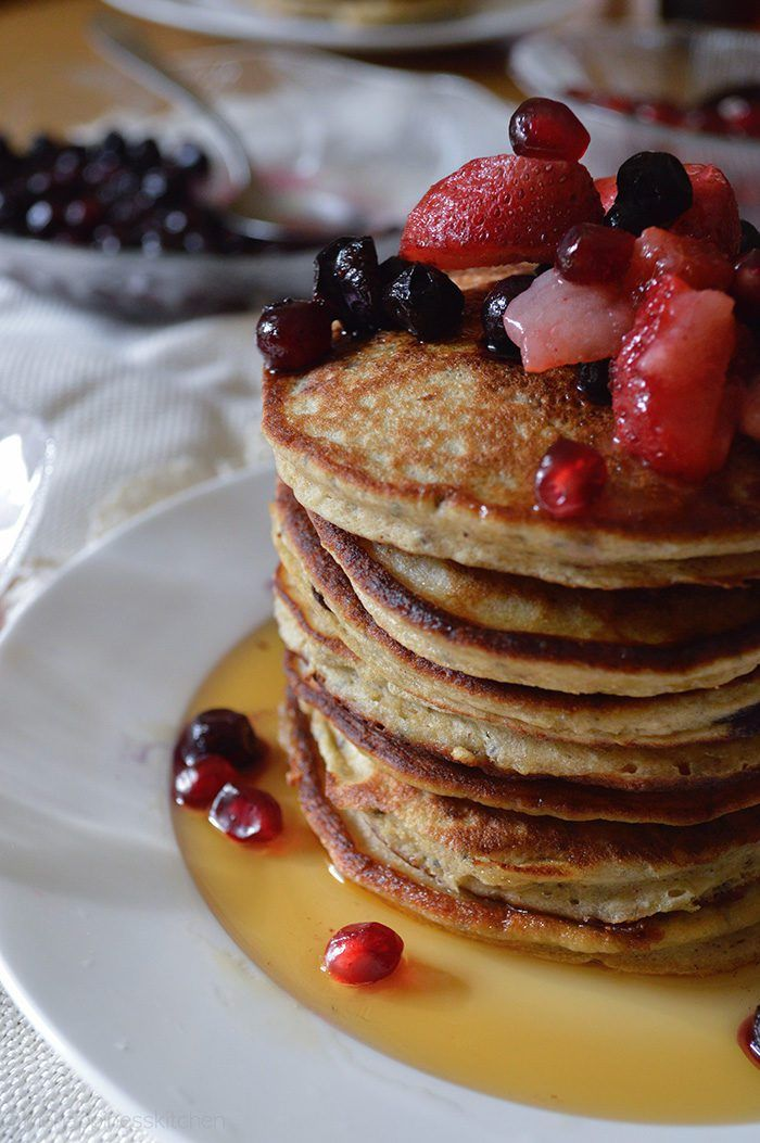 These wholesome, buckwheat pancakes are gluten-free and super easy to make. Super simple, super healthy, super delicious! | thehappinesskitchen.com