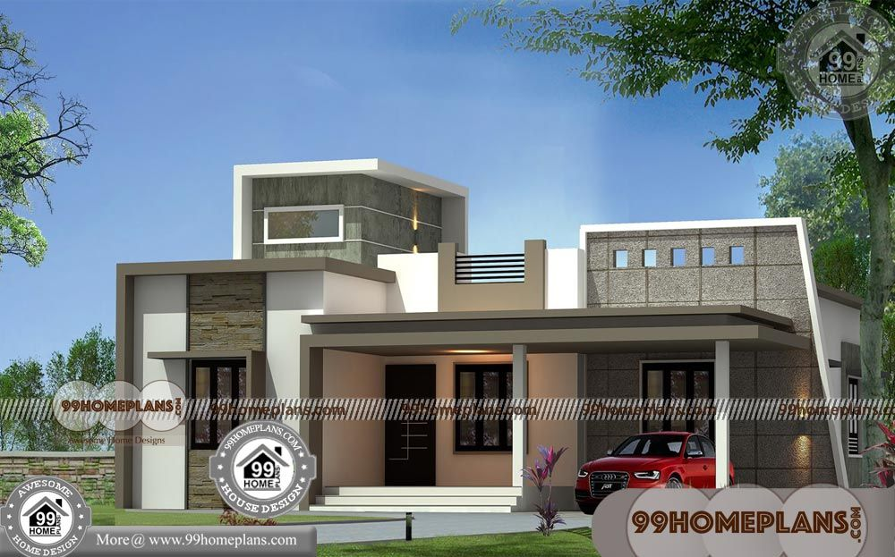 Single Story Open Floor Plans With Kerala Contemporary Style House Plans Having Contemporary House Plans Single Floor House Design Small House Elevation Design