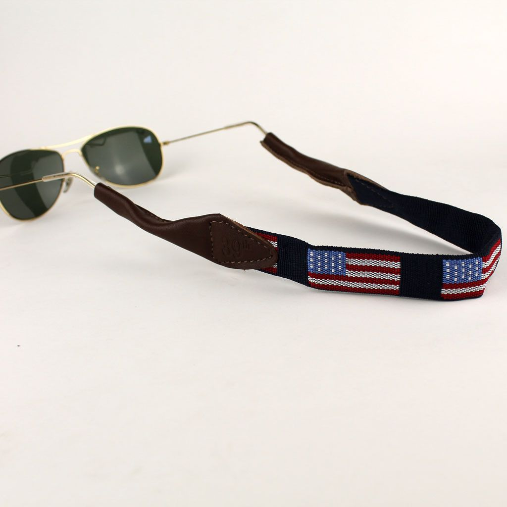 0997413e7e Old Glory Needlepoint Sunglass Strap by 39th Parallel