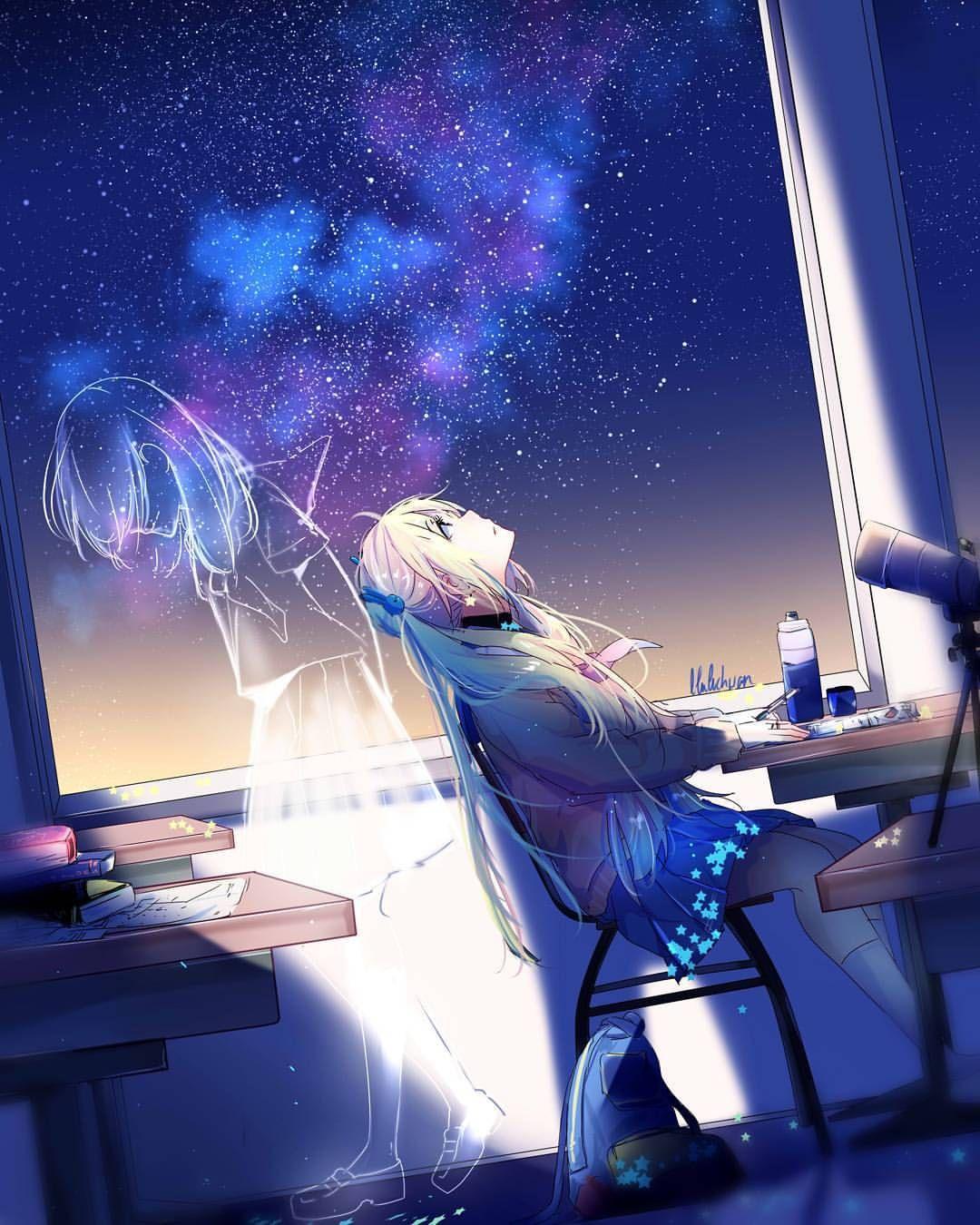 Pin Oleh Chivio Chan Di Anime Dengan Gambar Pemandangan Anime Seni Anime Karya Seni Fantasi