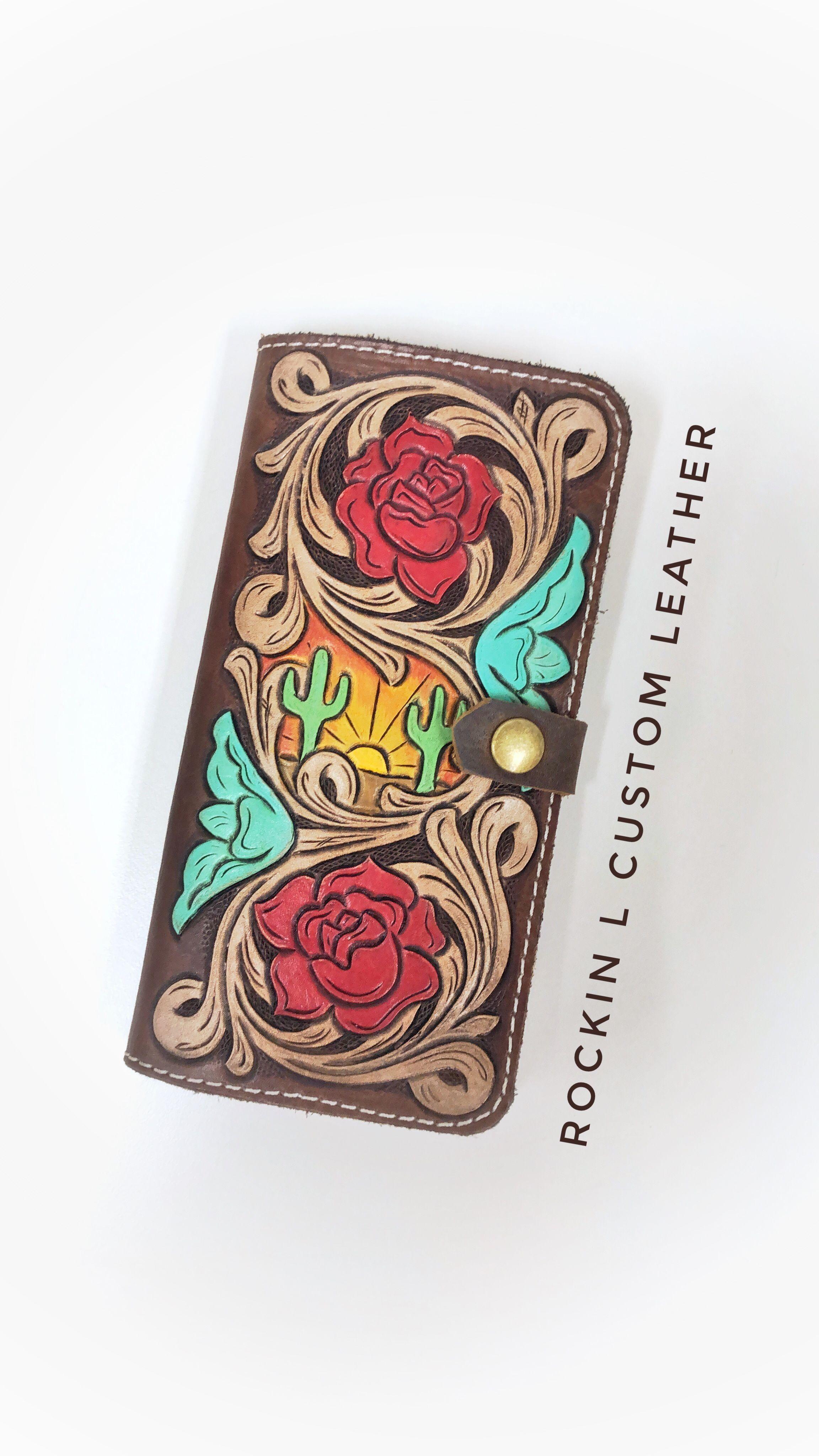 newest 2ed88 89058 Custom tooled leather phone case made by Rockin L Custom Leather ...