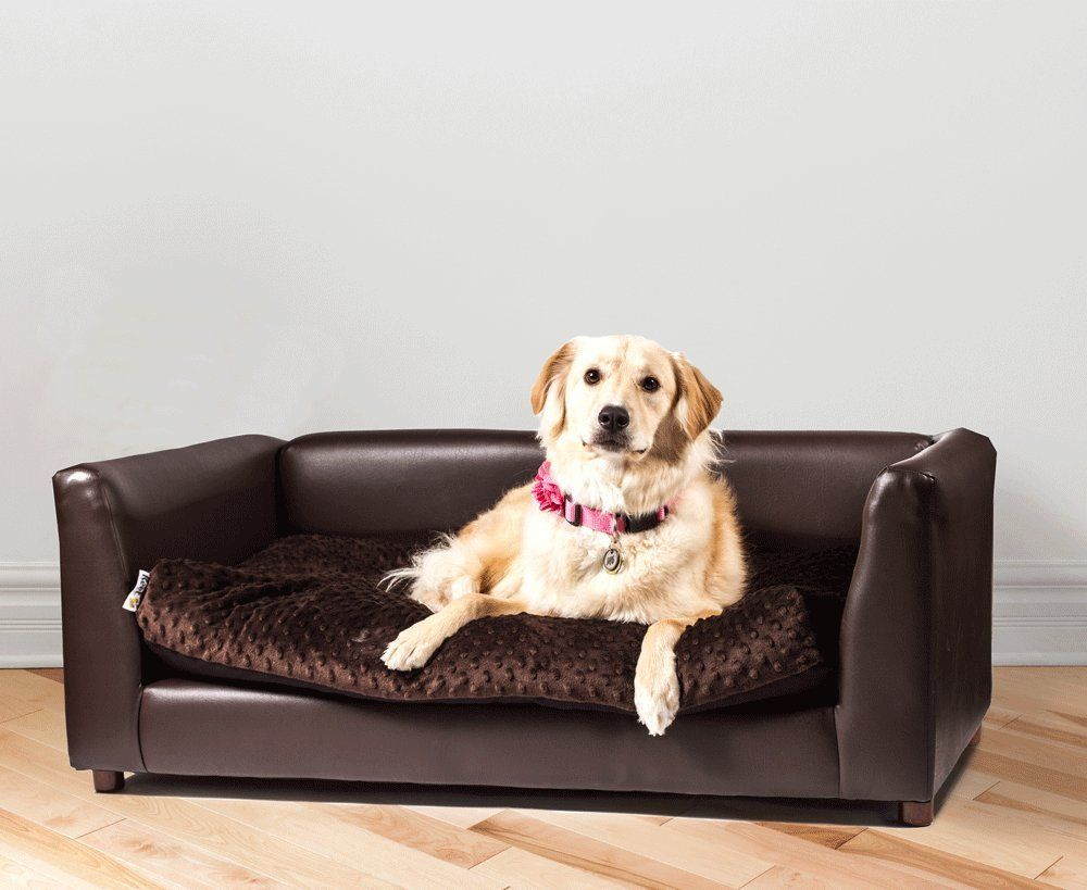 Keet fluffly deluxe pet bed sofa charcoal small see