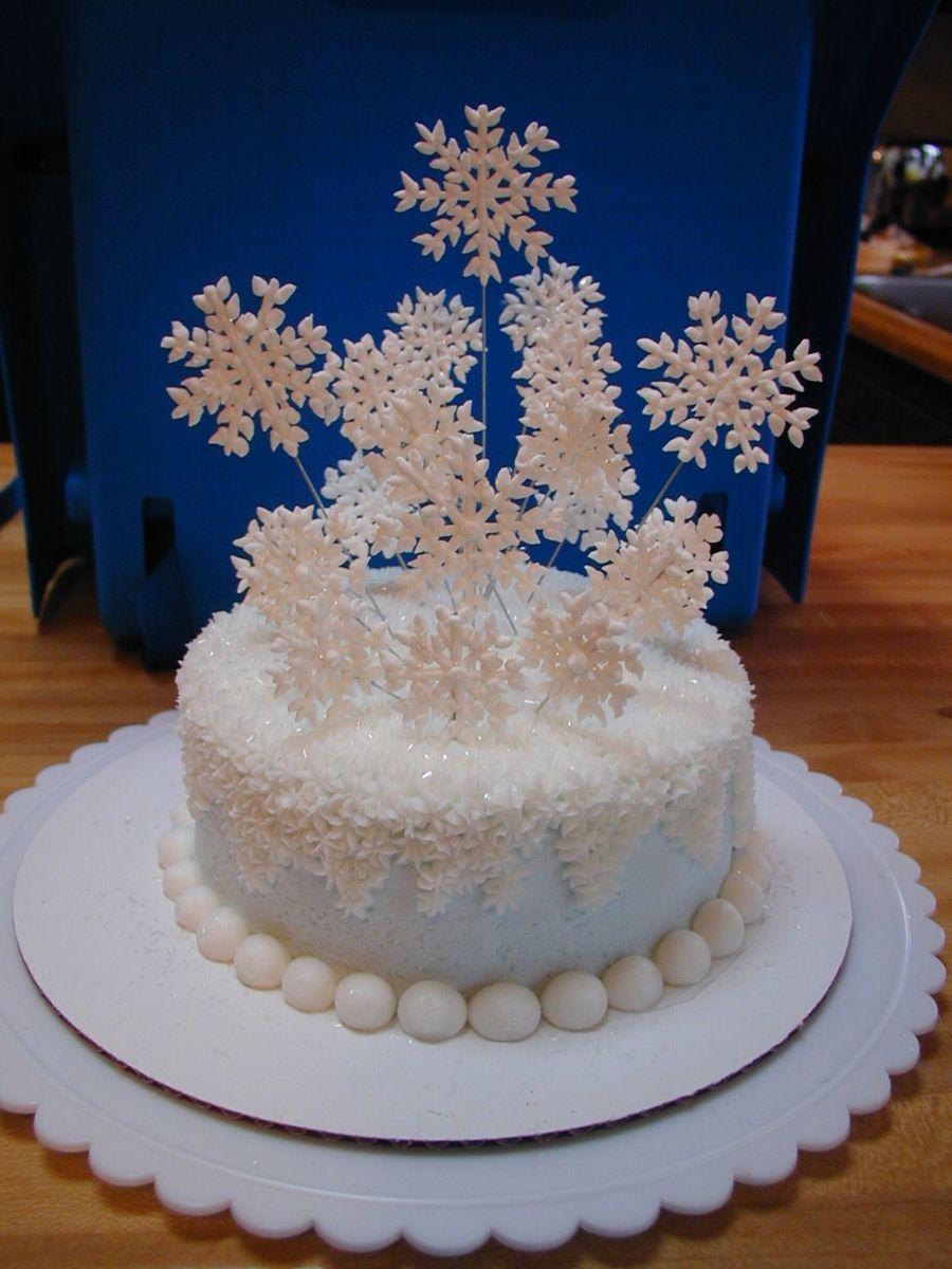 Super Snow Flake Cake Birthday Cards Printable Nowaargucafe Filternl