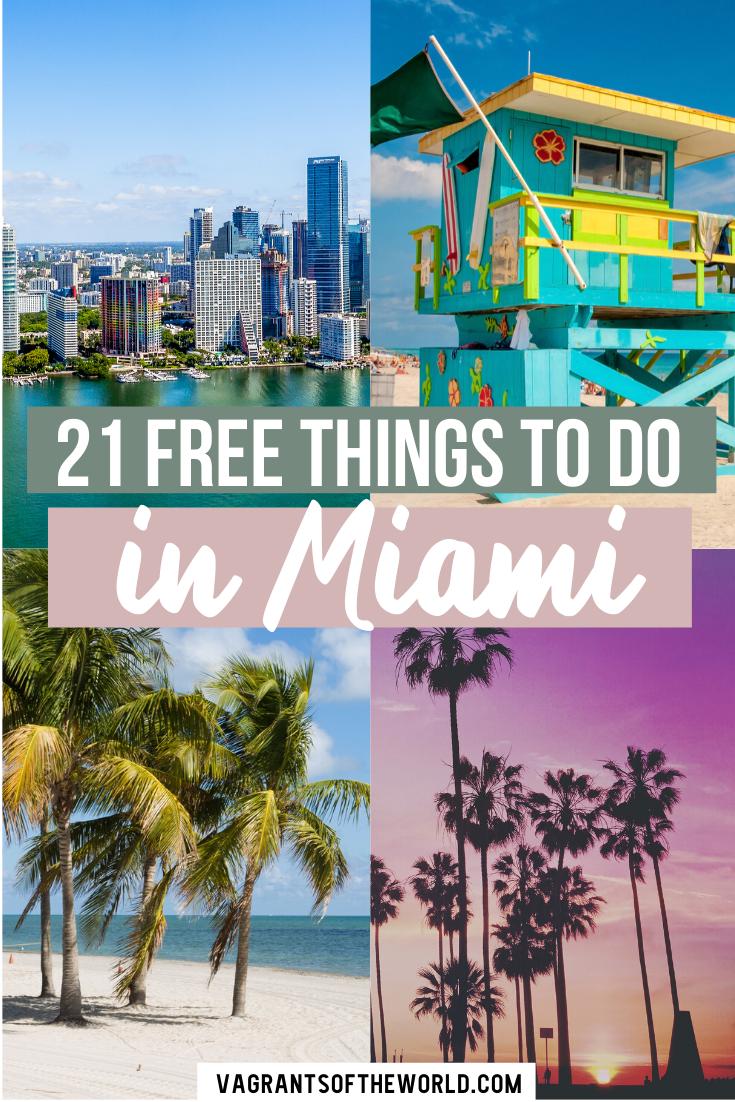 Fabulous Free Things To Do In Miami Miami Travel Miami Travel Guide Miami Vacation