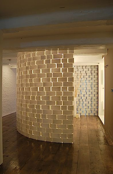 Reverse Painted Bricks Delightful Way To Carve Out A Small E For Privacy Ingenious