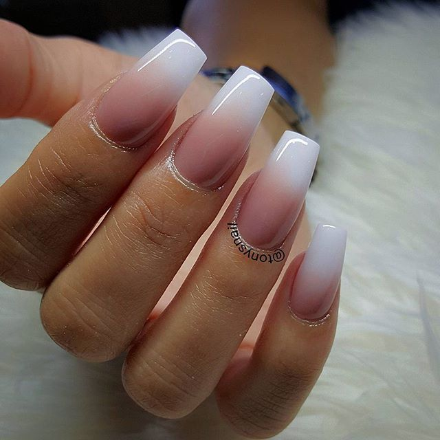 Nail Trends Pink Ombre Sns Nails With French White Tip For More Nail Inspiration Visit Www Dontsweatthestewardess Com Gorgeous Nails Nail Designs Nails