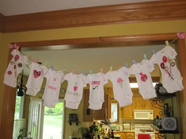 Baby Shower Onesie Decorating Examples | We Did This At Both Of My Showers  And It
