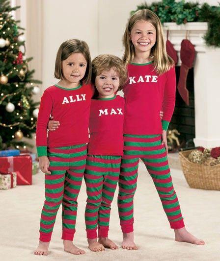 Personalised Initials Children/'s Pyjamas Pjs Kids Pyjamas Christmas Gifts