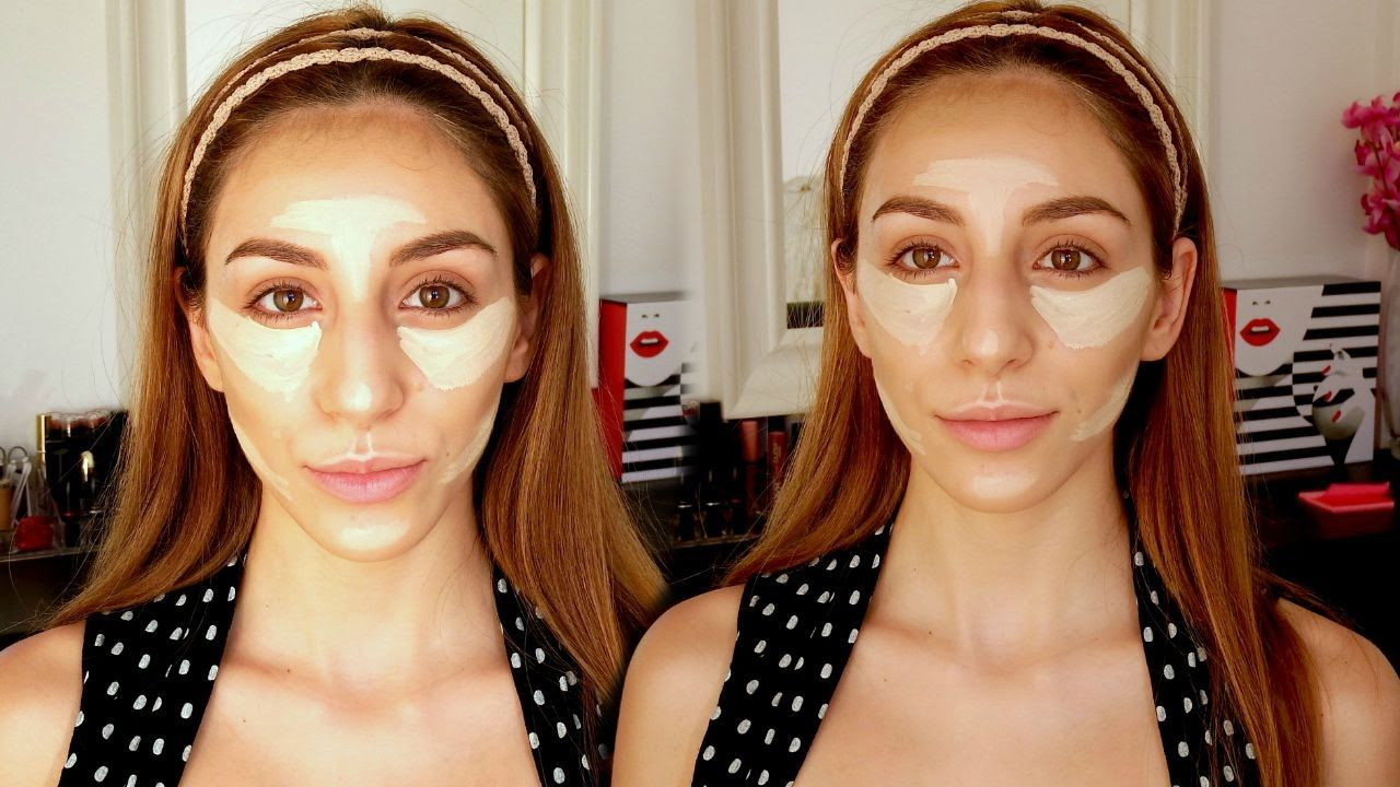 CONTOUR FOR OVAL FACES MAKEUP TUTORIAL (With images