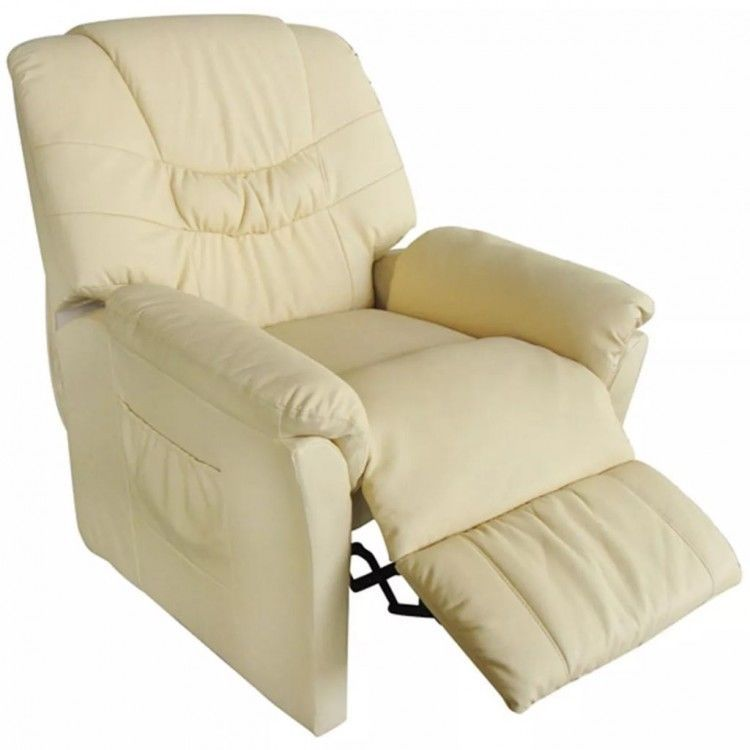 Tv Massage Recliner Sofa Armchair Faux Leather Upholstered Recliner Cream Sling 284 00end Date Ebay Sales Massage Chair Recliner Chair Recliner