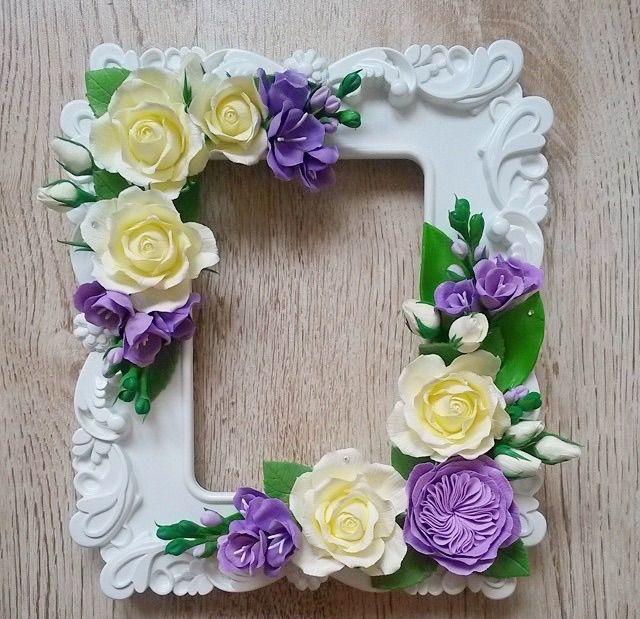 Рамка для фото цветы своими руками 3