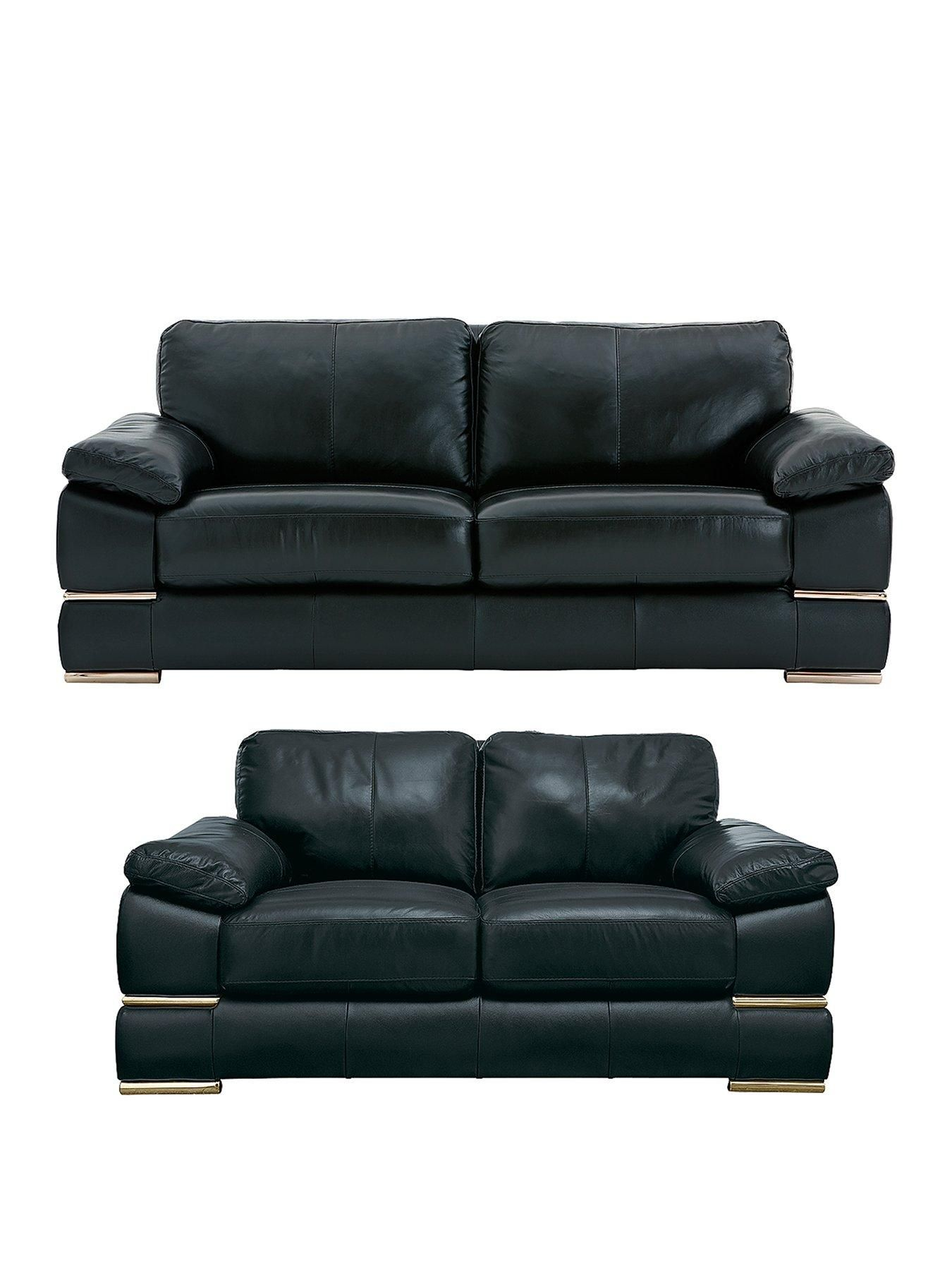 Primo Italian Leather 3 Seater + 2 Seater Sofa Set (Buy And ...