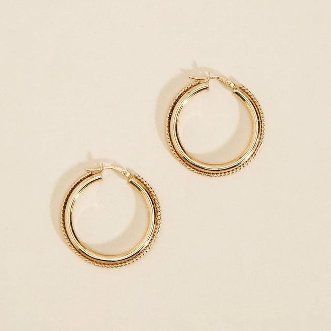A Night In Mumbai Hoop Earrings Hoop Earrings Earrings Diamond Solitaire Earrings