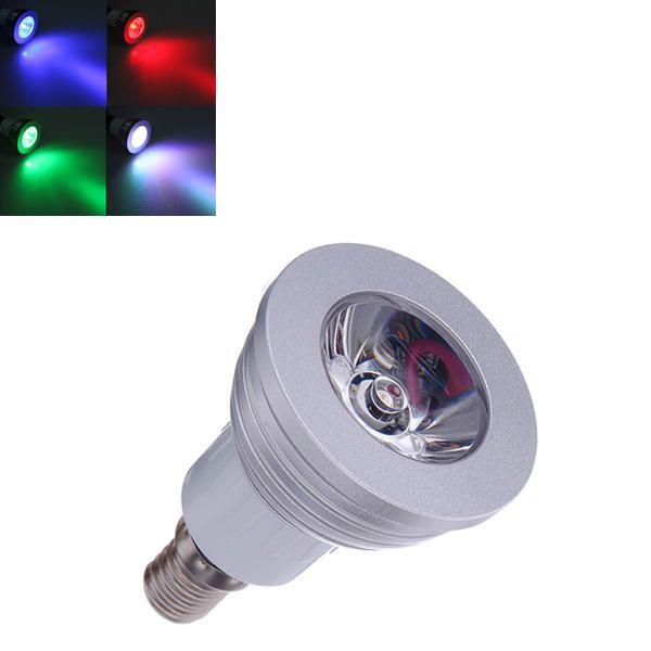 E14 3w 16 Rgb Changing Led Bulb Lamp With Remote Control Ac 90 240v Bulb Led Remote