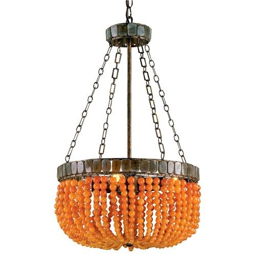 Apricot And Gray Retro Glam Chandelier Orange Chandeliers
