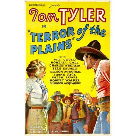 Terror Of The Plains Canvas Art - (11 x 17)