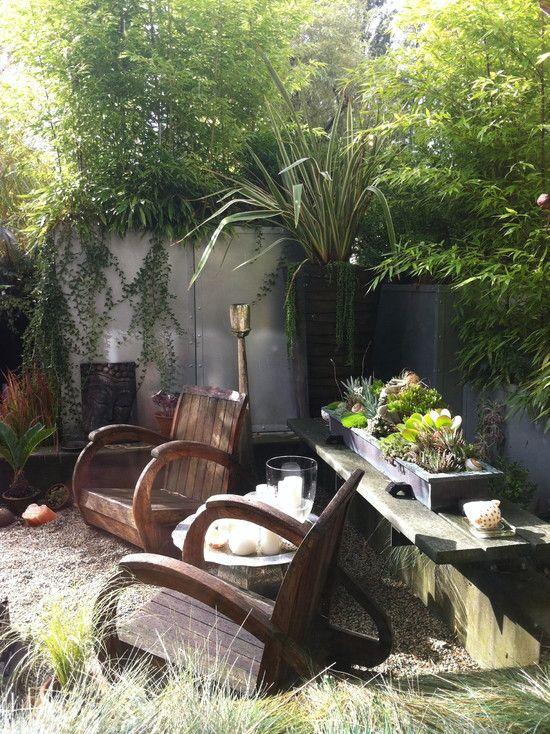 New Pea Gravel Patio Project Backyard Inspiration Tropical