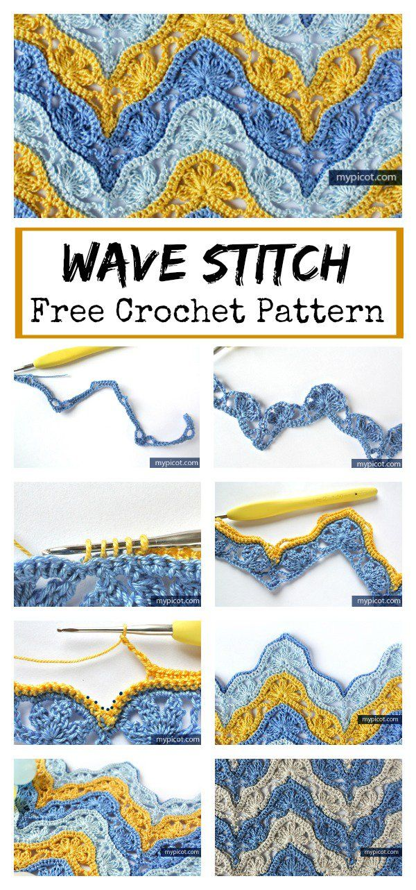 Wave Stitch Brighton Blanket Free Crochet Pattern | Crochet ...