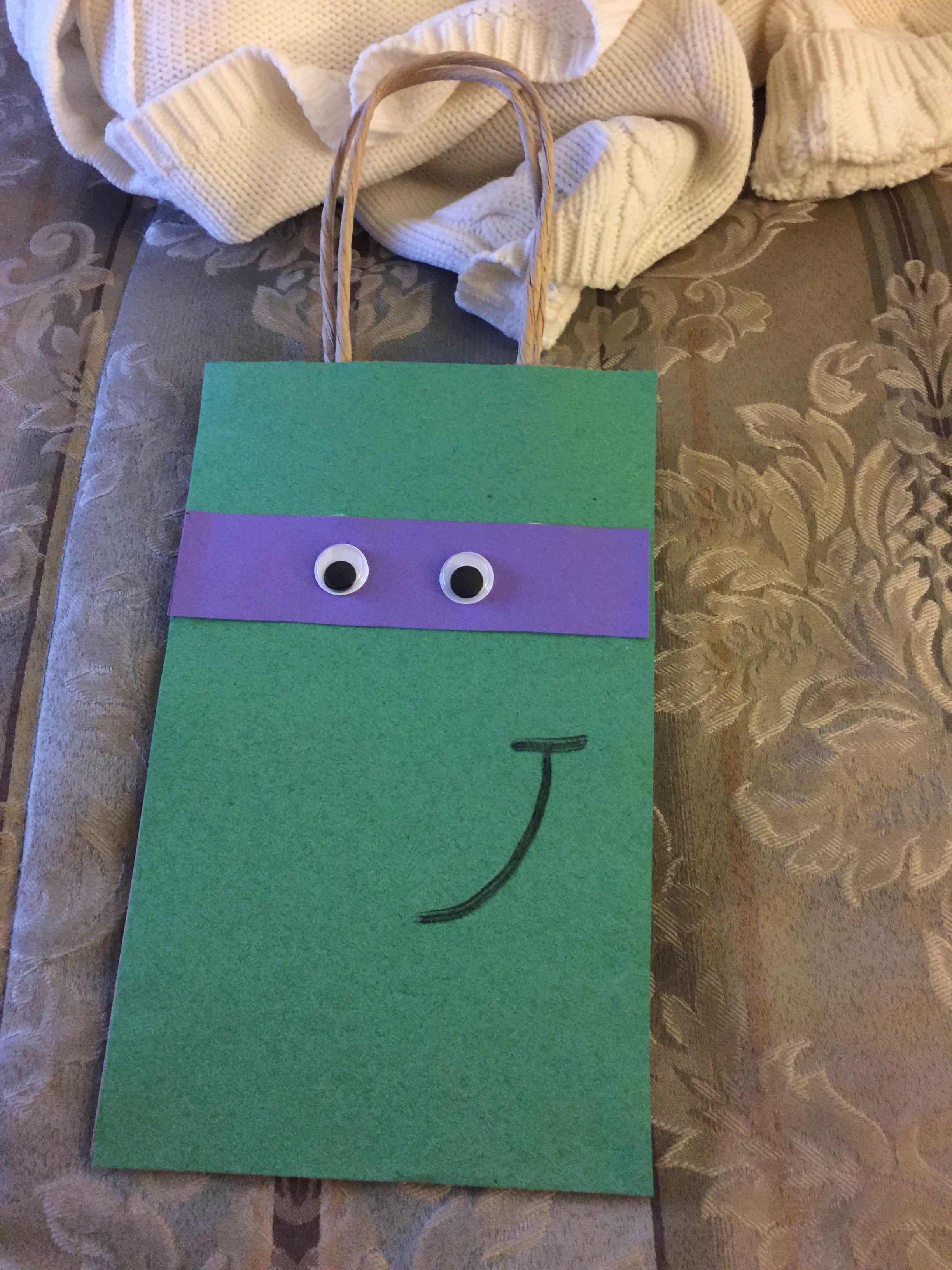 DIY Ninja Turtle goodie bags