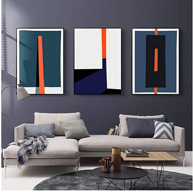 SHUTIAOQUN Moderne abstrakte geometrische Bunte Drucke ...