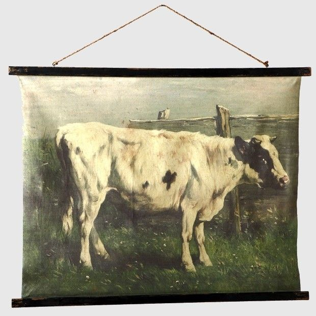 Antiqued Rolled Cow Wall Art | Cow wall art, Cow and Walls