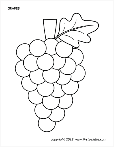 Grapes Free Printable Templates Coloring Pages Firstpalette Com Fruit Coloring Pages Coloring Pages Sunday School Crafts
