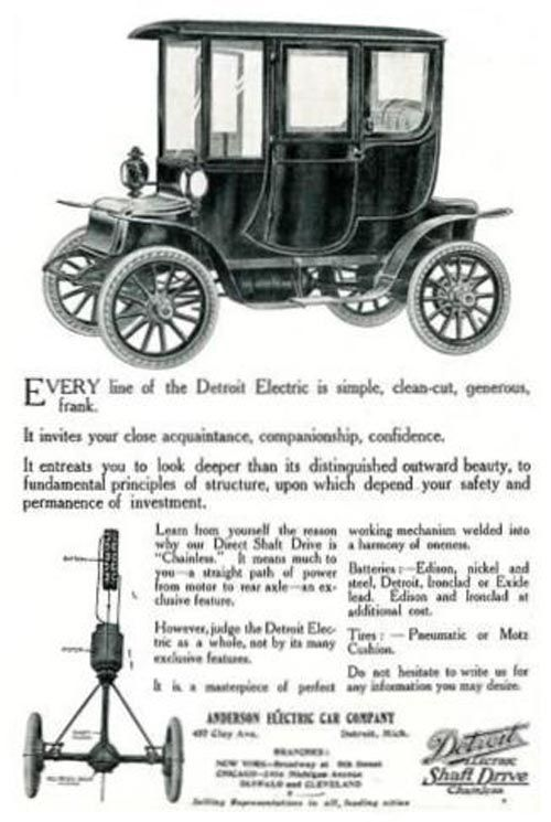 Detroit Electric Electric Cars Electric Transportation Antique