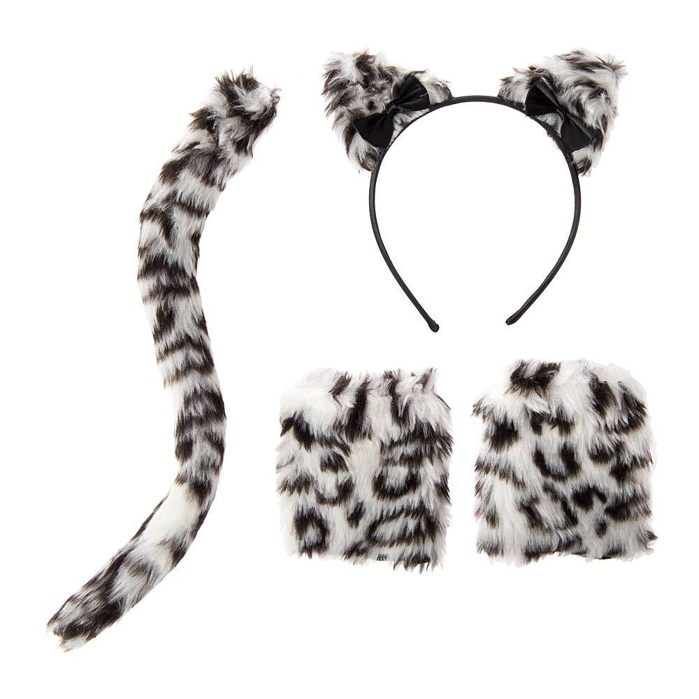 Halloween Plush Snow Leopard Accessory Set of 3 | Claire's ...
