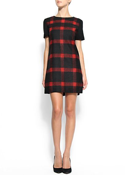 This Mango check dress has a touch of Burberry about it - a must-have piece.