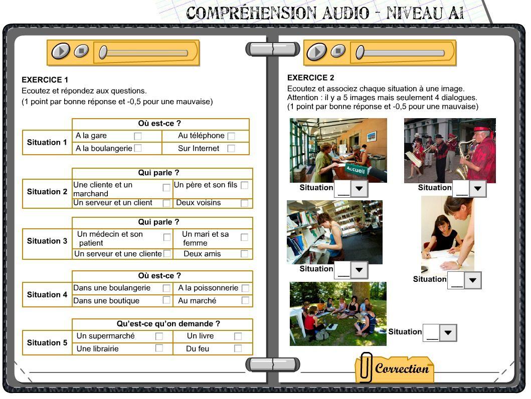 2 Exercices De Comprehension Orale Fle A1