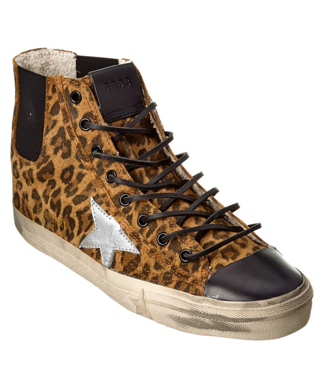 Golden GooseSuede V-Star 1 High-Top Sneakers