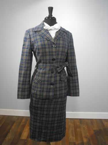 70/'s womans Pendleton Blazer and skirt matching suite Vintage 60/'s