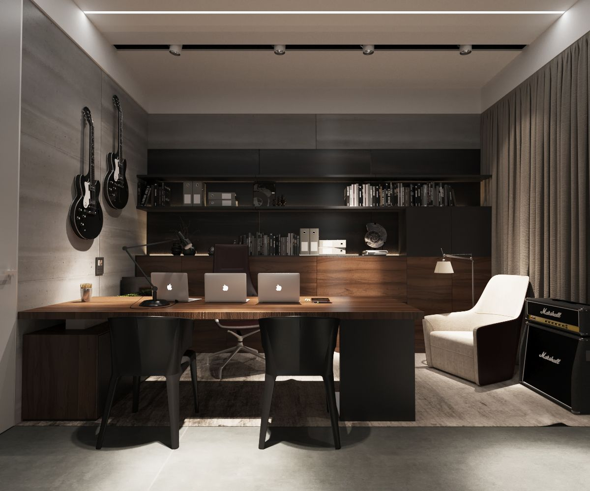 Interior Design Ideas For Home Office: 3 Examples Of Modern Simplicity