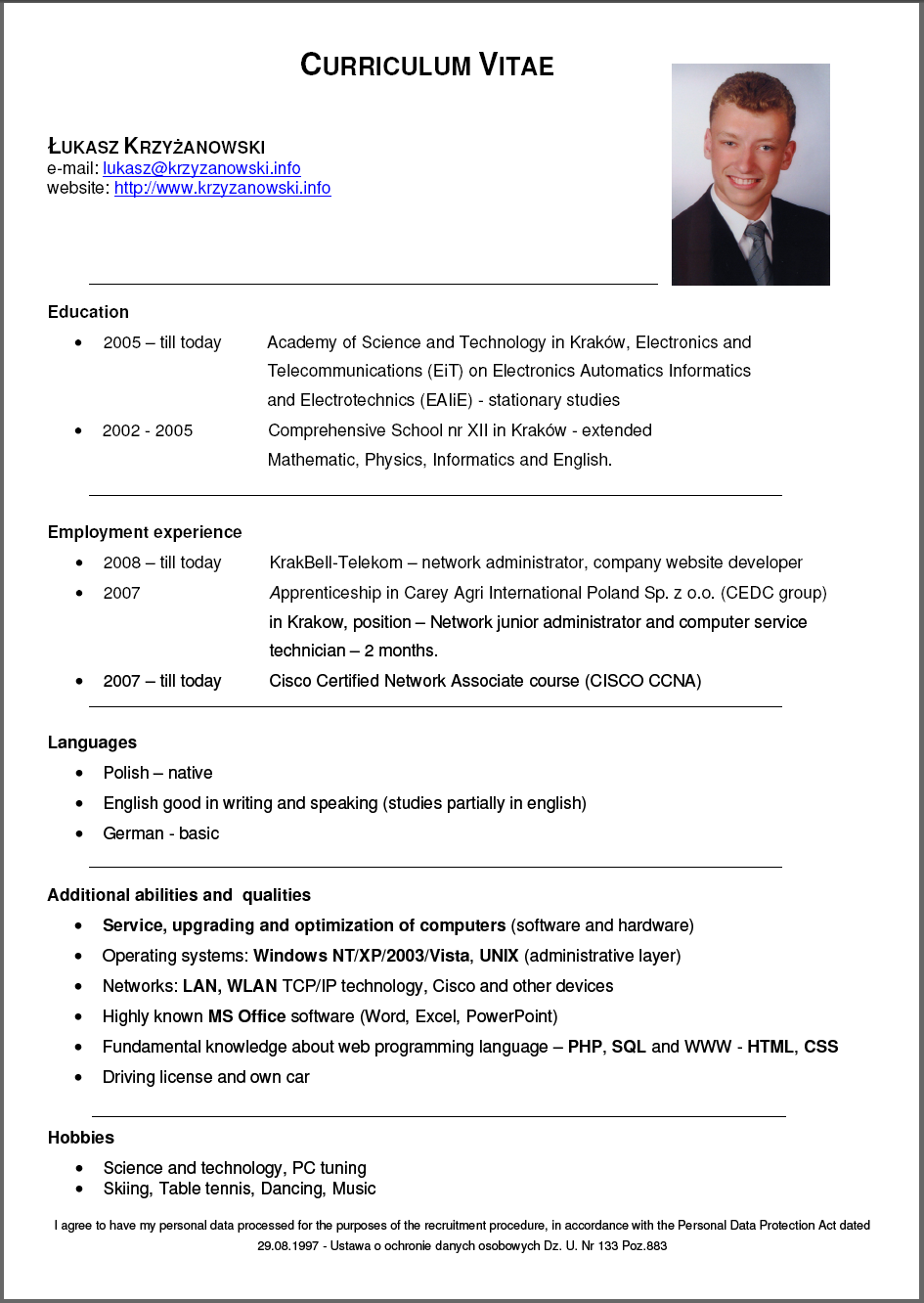Curriculum Vitae Zonajobs Download Job Resume Format Resume