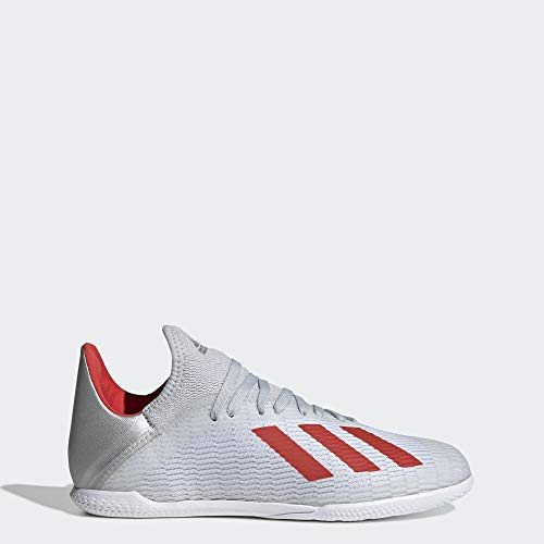 Adidas Unisex X 19 3 Indoor Soccer Shoe Silver Metallic Hi Res Red White Clout Wear Cloutshoes Com In 2020 Soccer Shoe Kids Soccer Shoes Indoor Shoe
