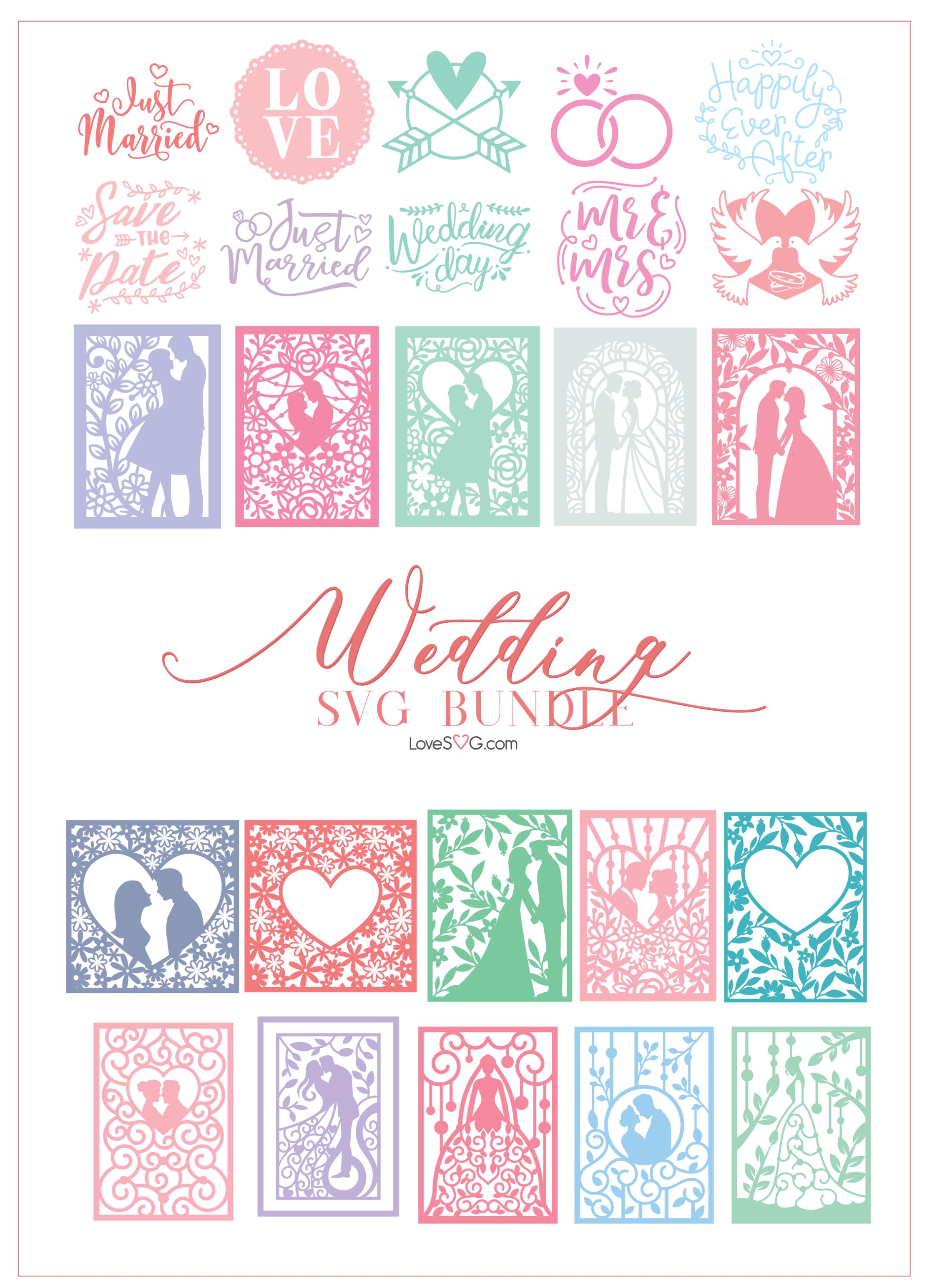 Download The Wedding SVG Bundle LoveSVG - Preview (4)   Cricut ...