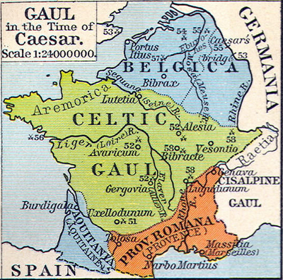 France was the first known European country known as Gaul