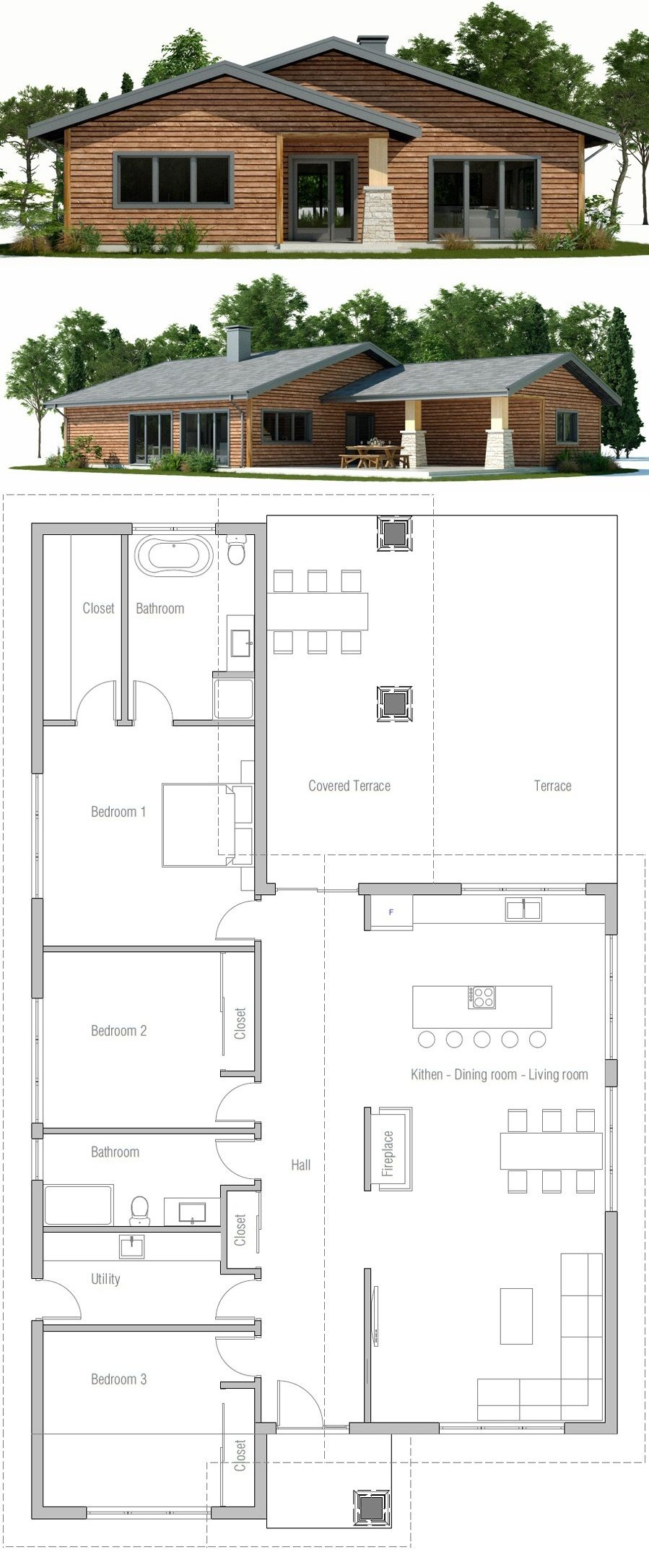 House Plan Ch248 House Layouts New House Plans House Front Design