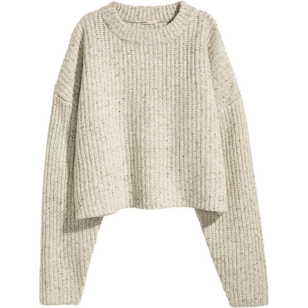 94e0aec84e5 H M Chunky-knit Wool Sweater  29.99 ( 30) ❤ liked on Polyvore featuring tops