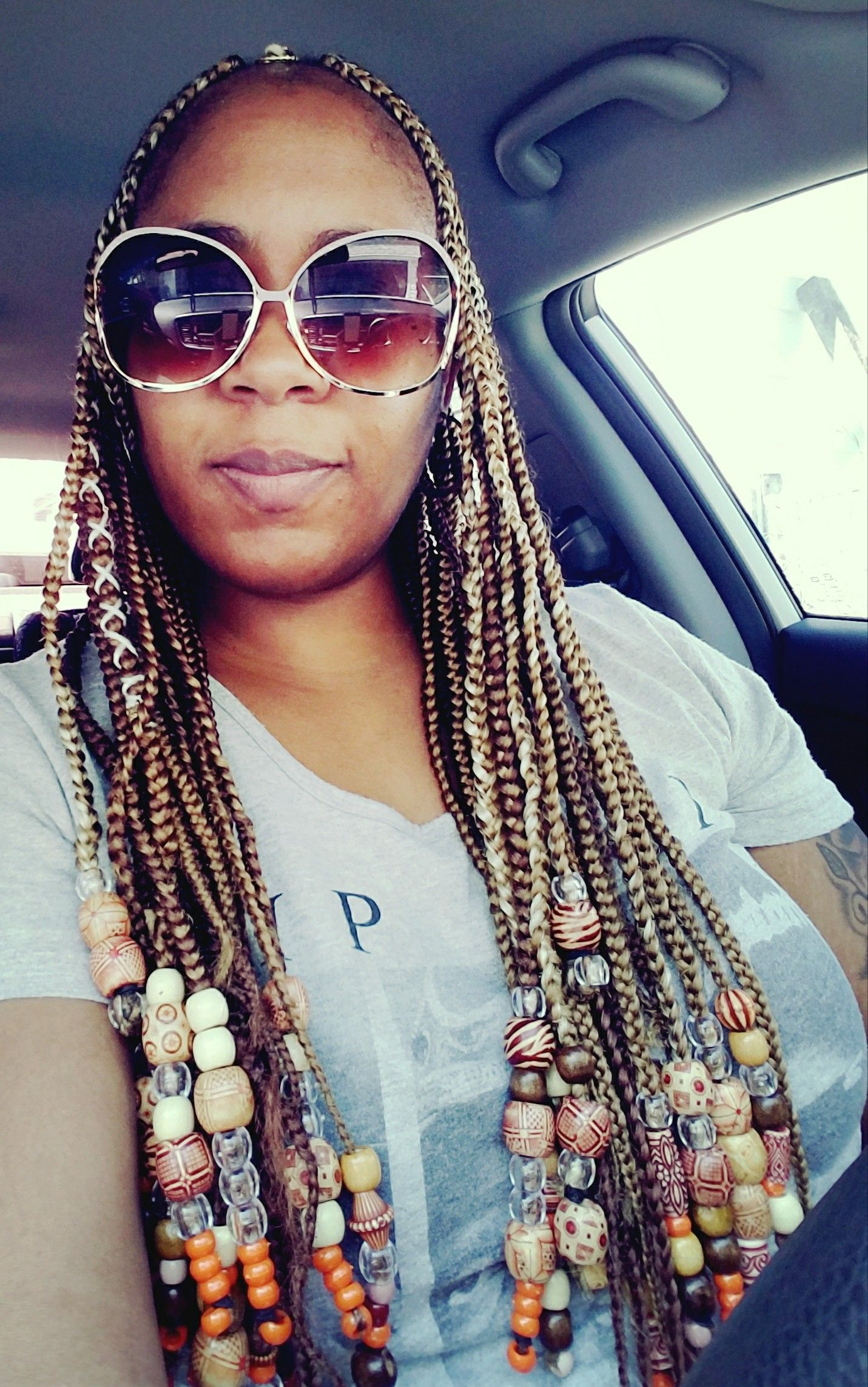 A Summer Look Of Beautiful African Tribal Braids Beads Braids With Beads Fashion Summer Looks