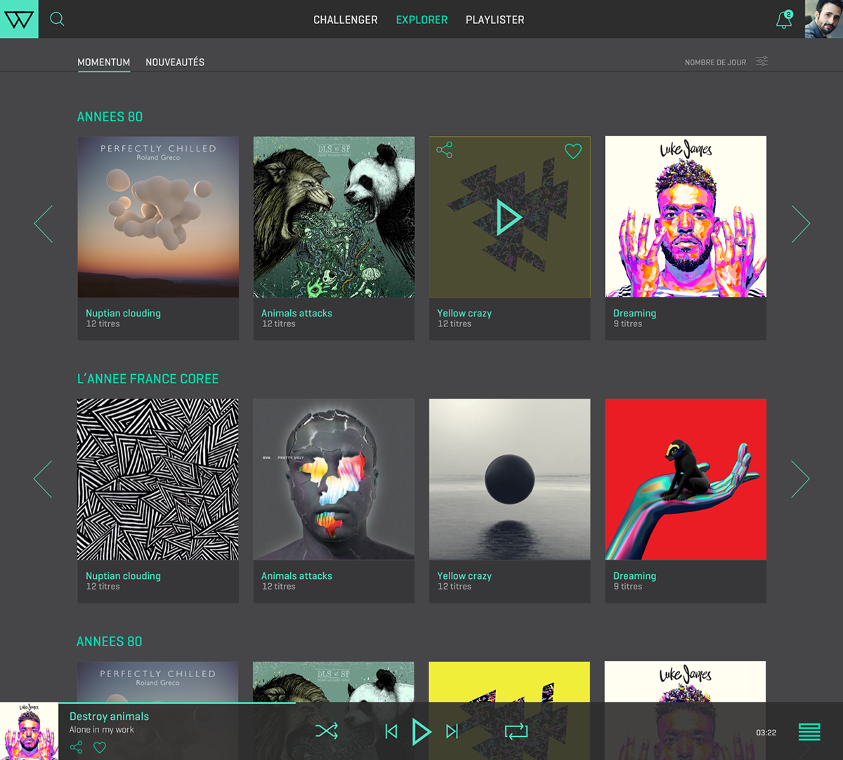 MOMENTUM - Playlist Maker on Behance