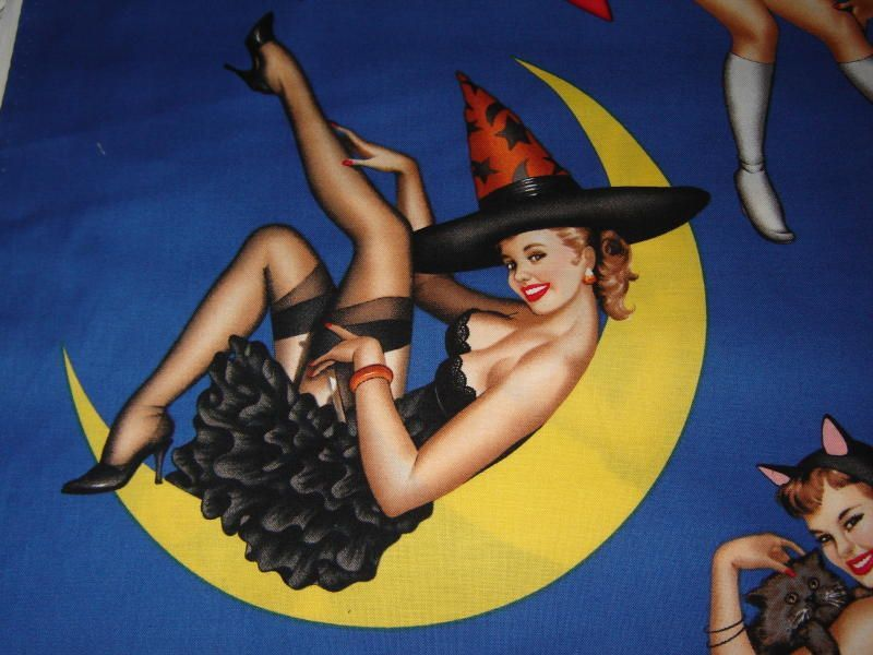 Vintage Sexy Witch on the Moon Paper Moon Pinterest Illustrations - sexy halloween decorations