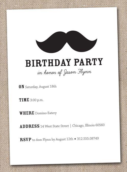 Mustach invite mustache bash pinterest birthdays 18th mustach invite filmwisefo