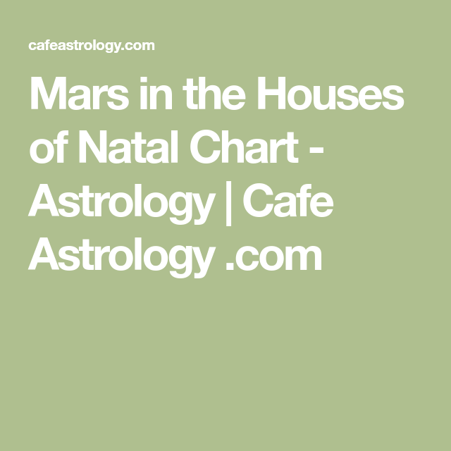 Mars In The Houses Of Natal Chart Astrology Cafe Astrology