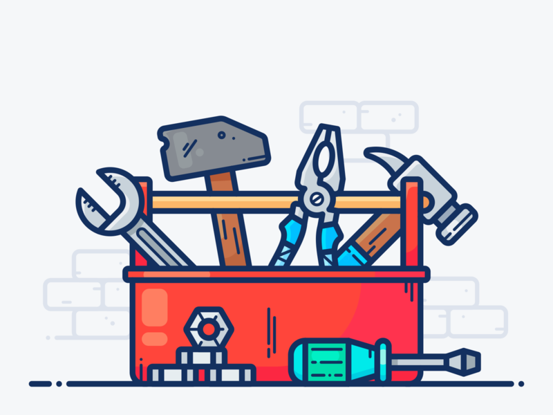 Toolbox Tool Box Cartoon Wallpaper Design
