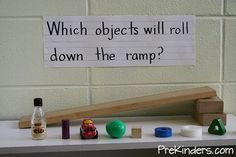 What can preschoolers learn from ramps? How about the beginnings of motion, speed, distance...
