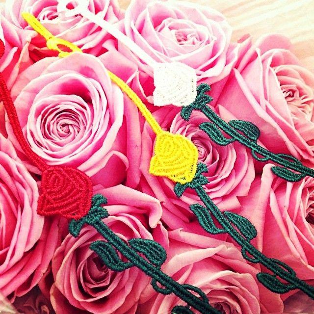 Cruciani Rose Flower Bicolor bracelets