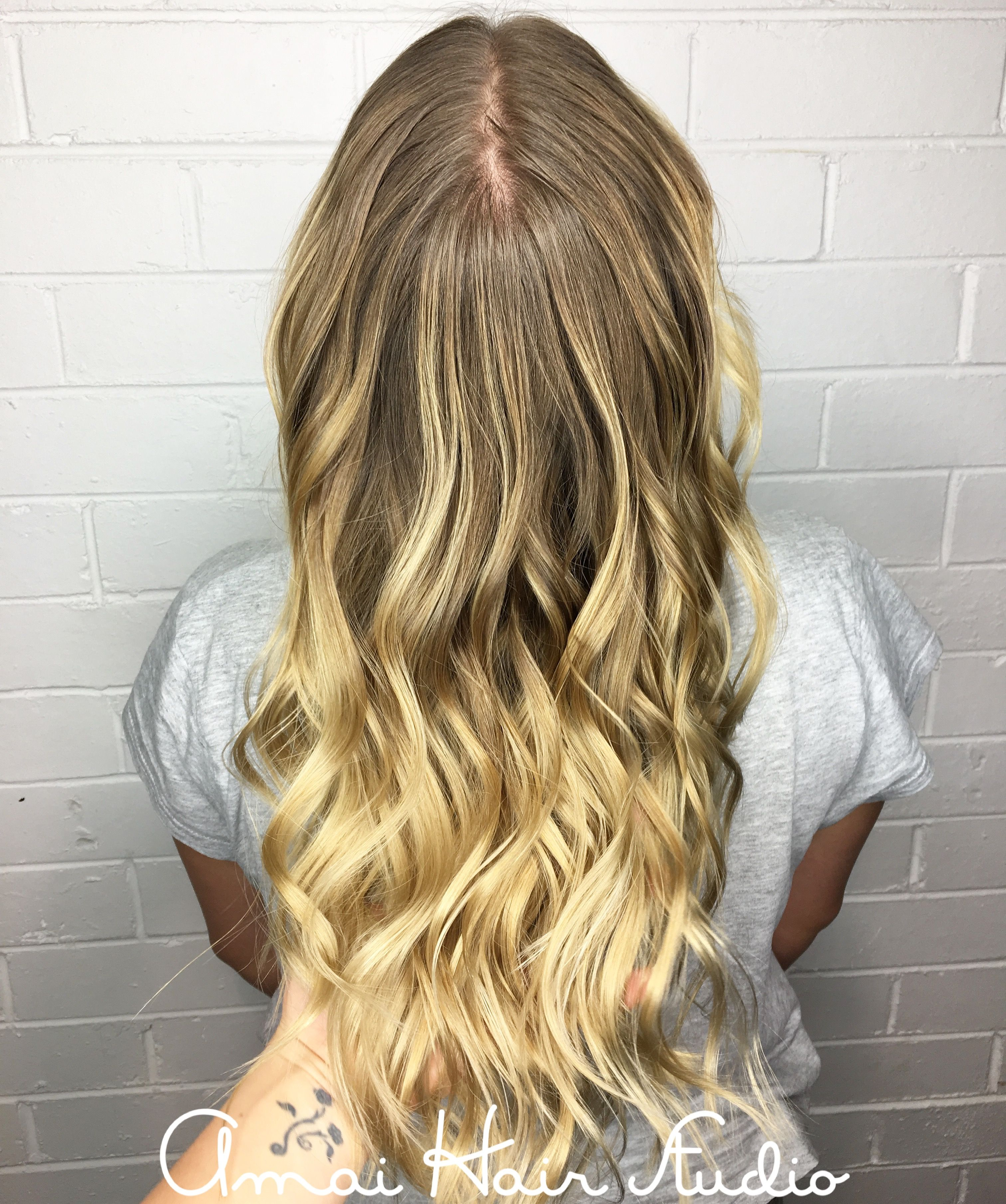 Blonde balayage beach blonde long blonde hair amai hair studio